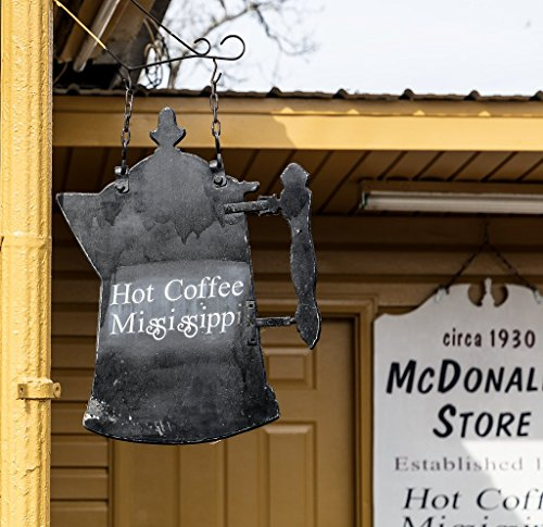 Photograph | Coffee pot sign at the McDonald's Store (not related to the McDonald's hamburger chain) in Hot Coffee, Mississippi| Fine Art Photo Reporduction 44in x 44in