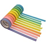Marrywindix 10x Decorative Washi Rainbow Sticky Paper Masking Adhesive Tape Scrapbooking DIY
