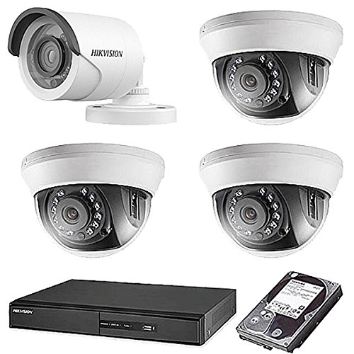 HIKVISION(ハイクビジョン) 防犯カメラセット TVI-SET6-C4-2TB 5年保証 監視カメラ 防犯カメラ × 4台(243万画素フルハイイビジョン)+2TB HDD 屋外内用 セット 小型 スマホ対応 録画機能付き 4CH 防犯カメラ セット 9点セット 日本語マニュアル付き 屋外用1台屋内ドーム3台 TVI-SET6-C4-2TB B074Z3Z9WQ, 吉富町:e36cb9f6 --- mta-gw.ferraridentalclinic.com.lb