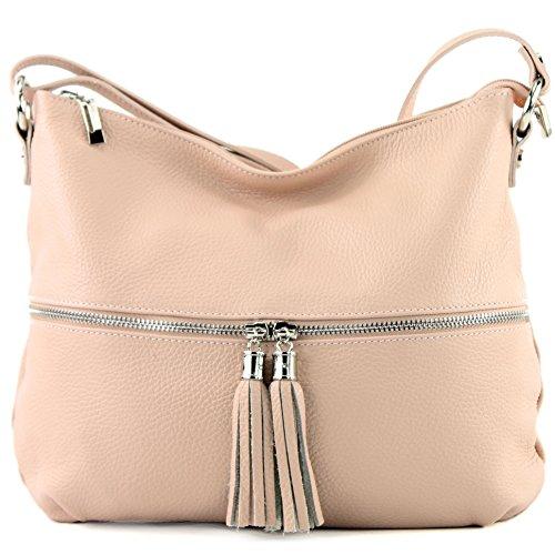 bag Leather Hell Rosabeige de ital bag Leather Shoulder bag Leather modamoda T159 HR0xZwqx