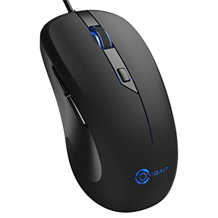 50be9bac117 Gaming Mouse Wired, OMBAR 6 Buttons 4 DPI Adjustable Auto Breathing  Backlight Optical Comfortable Grip