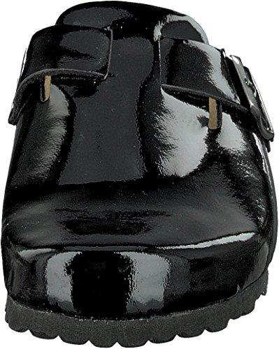 Zapatillas Por 276 Calzado De 125 Andar Brillante Casa Piel Supersoft En Plantilla Negro 4I6q5BpwI