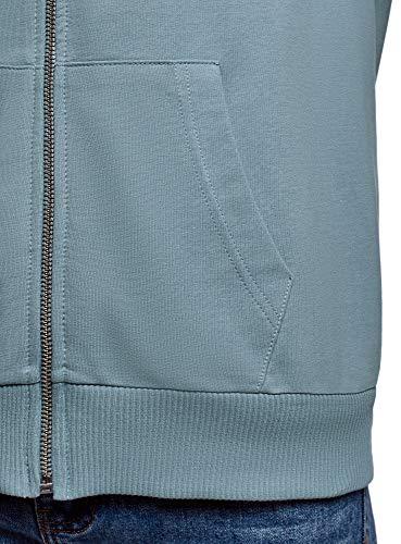 Cappuccio 7400n E Tasche Oodji Blu Ultra Donna Felpa Con IH4STw
