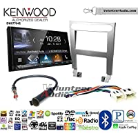 Volunteer Audio Kenwood DMX7704S Double Din Radio Install Kit with Apple CarPlay Android Auto Bluetooth Fits 2004-2006 Nissan Maxima (Without Bose)