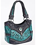 Wear Ne Women's N.E. Turquoise Floral Laser Cut Shoulder Bag Turquoise One Size