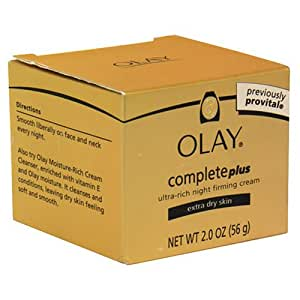 Olay Complete Ultra Rich Night Firming Cream, Extra Dry Skin, 2 Ounce (Pack of 2)