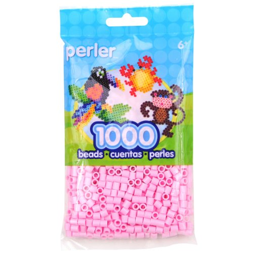 (Perler Beads Fuse Beads for Crafts, 1000pcs, Light Pink)