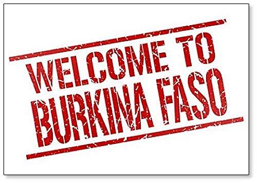 Welcome to Burkina Faso Stamp Illustration Classic Fridge Magnet