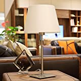 HH Modern Lamp Living Room Bedroom Bedside Lamp Metal Creative Study Lamps