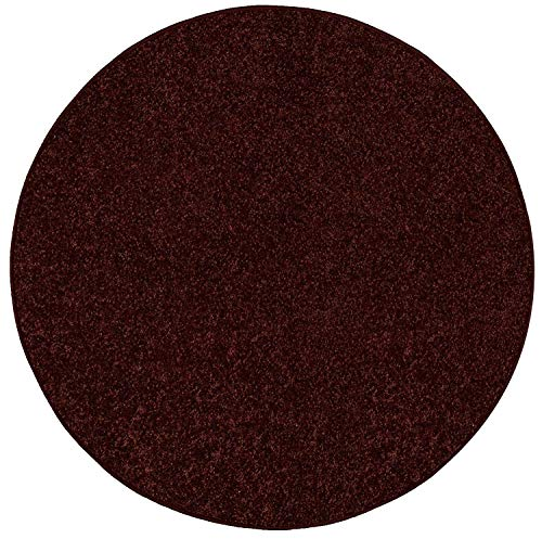 (Bright House Solid Color Area Rug, 3' Round, Chocolate)