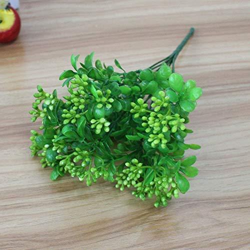 MDSTORY-人工プラスチック枝 花 ウェディング ホームインテリア ガーデン 人工植物 人工プラスチック ミラン 草 葉 植木 B07KNG8WX9 4