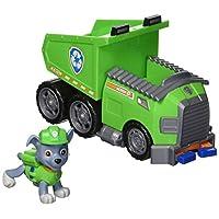 Paw Patrol - Vehículo de volquete de reciclaje de Rocky con Rocky Figure