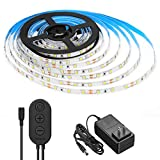 Dimmable LED Strip Lights, MINGER White Strip Light LED Mirror Lights Kit for Vanity Makeup Dressing Table 6000K Bright White Daylight, 300 LEDs, 16.4FT Under Cabinet Lighting Strips for Kitchen: more info