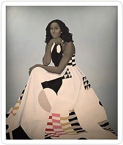 Printliza (3 PCs/Pack) Unframed First Lady Michelle Obama Smithsonians National Portrait Gallery 3x4 Inch Die-Cut Stickers Decals for Laptop Window Car Bumper Helmet Water Bottle