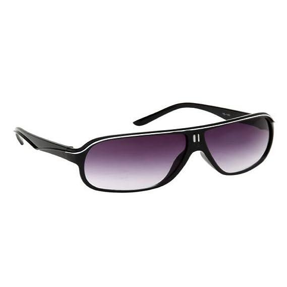 5917cb0a67e Vicbono Sporty Wayfarer Sunglasses - Black - Vscbl - 007  Amazon.in   Clothing   Accessories