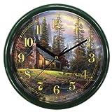 Thomas Kinkade 10-Inch Peaceful Retreat Wall Clock