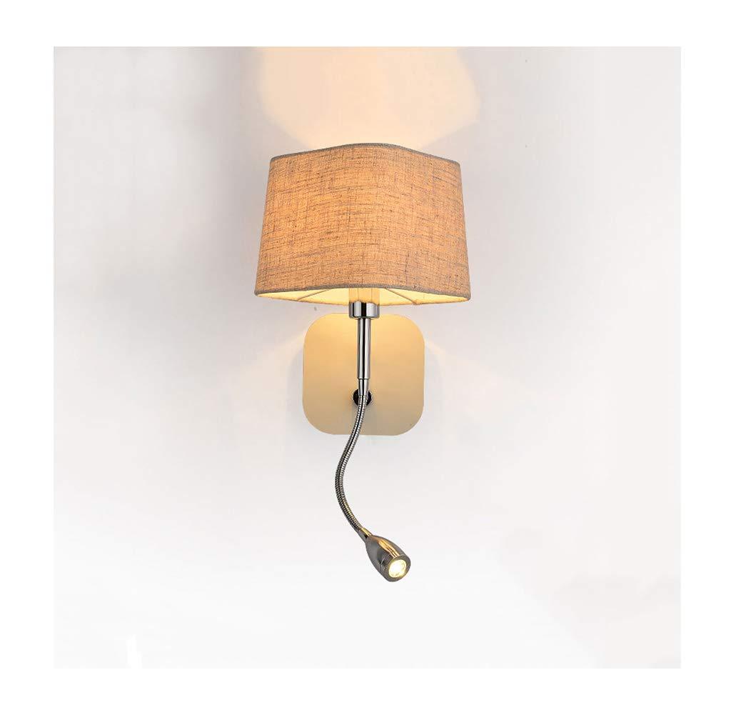 Wandleuchte lampe Wandleuchte Moderne Stoff E14 Wohnzimmer Schlafzimmer Studie Leselampe Wandleuchte (Farbe   A-3W LED)