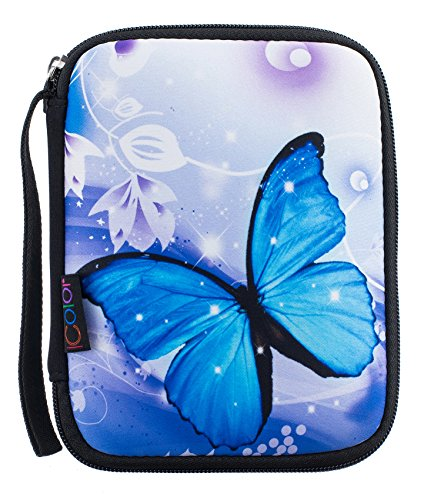iColor Butterfly Universal Electronics Accessories Bag / Journal Travel Gear Organizer / Hard Drive Case / Cable organizer (Single layer) (Universal Jewelry)