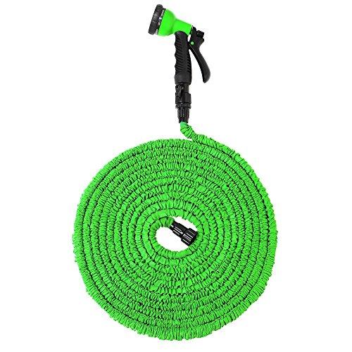 Expandable Garden Hose 50ft Garden Hose Strongest Expanding Garden Hose New Design of Latex core Green Garden Hoses Flexible Lightweight for Outdoor Watering Needs 8 Function Spray Nozzle Water Hose