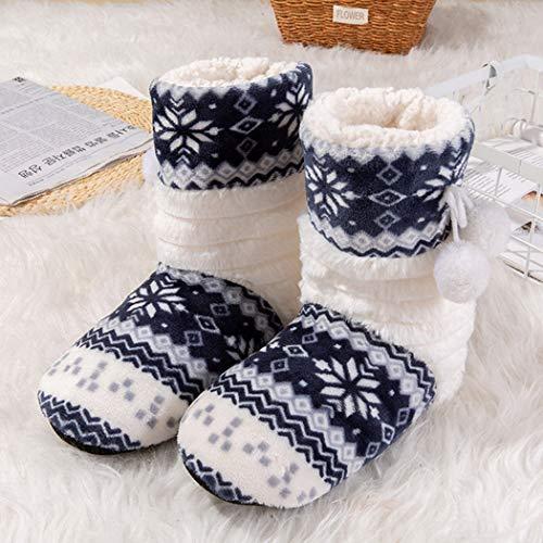 Morbido Natale Casa Caldi Donna Nero Lunghe Ragazze Calze Pattini Primavera Boots Peluche Di Pantofole Coperta Cotone RwqTSTCP