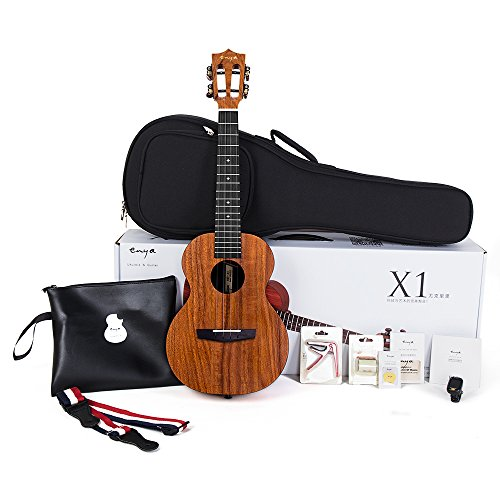 Enya EUT-X1 Tenor Ukulele HPL 26inch Ukelele Kit with Padded Gig bag,String, Tuner,Strap,Capo,Picks,Polishing cloth (Tenor) by ENYA