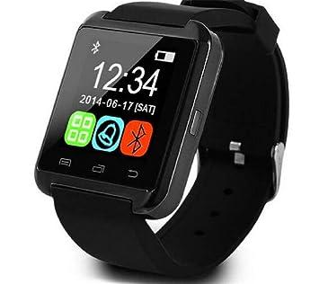 LWPCP Bluetooth Smart Muñeca Reloj Teléfono Mate Relojes para iOS Android Phone,Black: Amazon.es: Hogar