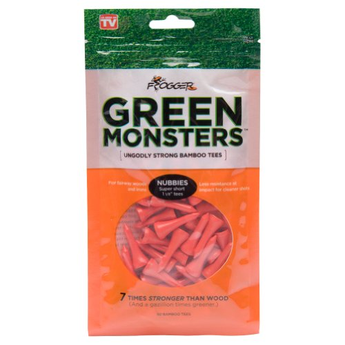 - Frogger Golf Green Monsters Ultra-Strong Bamboo Golf Tees, 1-1/8