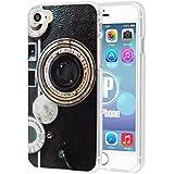 """deinPhone iPhone 6 Plus (5.5 """")/Housse Etui Coque en Silicone Motif appareil photo rétro"""