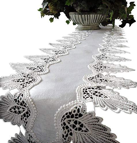 Galleria di Giovanni Creamy White Dresser Scarf 64