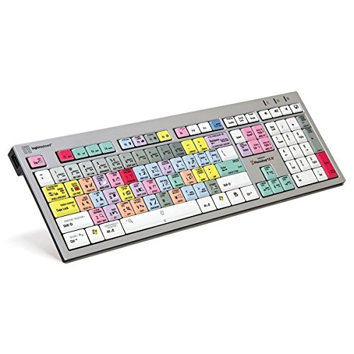 Logickeyboard Designed for Adobe Photoshop CC - PC Slim Line Keyboard- Windows 7-10 Part:  LKBU-PHOTOCC-AJPU-US (Photoshop Keyboard Pc)