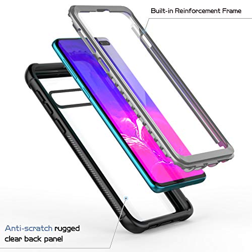 85f5be46cb167 Temdan Samsung Galaxy S10 Plus Case Built-in Screen Protector Full Body  Protect Support Wireless Charging,Heavy Duty Dropproof Case for Samsung  Galaxy ...
