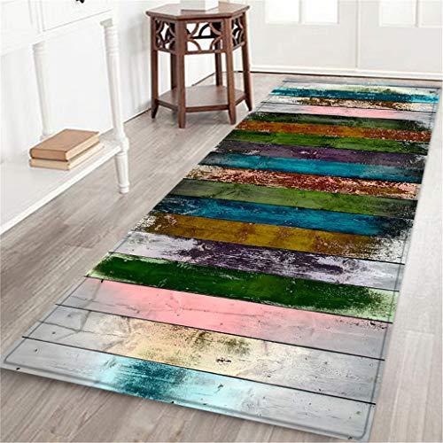 Maikouhai Rug, Rectangle Flannel Festival Hallway Doormat Anti-Slip Carpet Absorb Water Mat for Bathroom, Kitchen, Bedroom - 60x180cm (E) ()