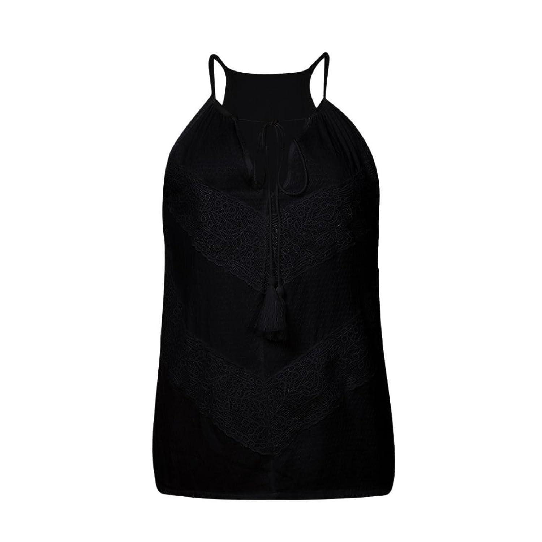 Amazon.com: DondPO Womens Fashion Lace Sleeveless Closure Casual V Neck Wraps Sexy T Shirt Tank Tops Loose Knit Summer Blouse T-Shirt: Clothing