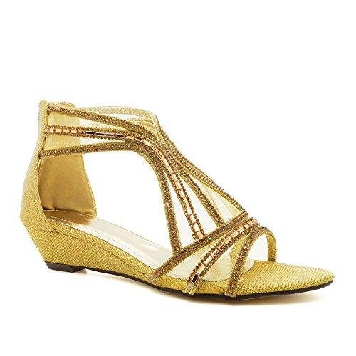 London Footwear - Zapatos de tacón  mujer dorado