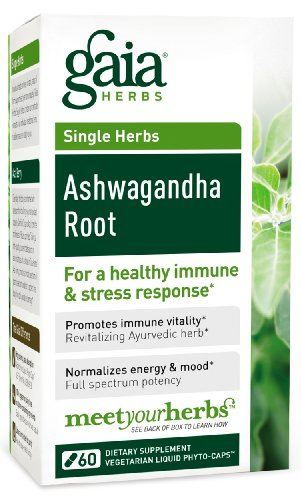 Gaia Herbs Ashwagandha Liquid Phyto Capsules