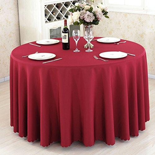 A Round 280cm linge de cuisine Nappes rondes, Nappe de table de salle à hommeger en tissu de salle de restaurant ( Couleur   A , taille   Round 280cm )