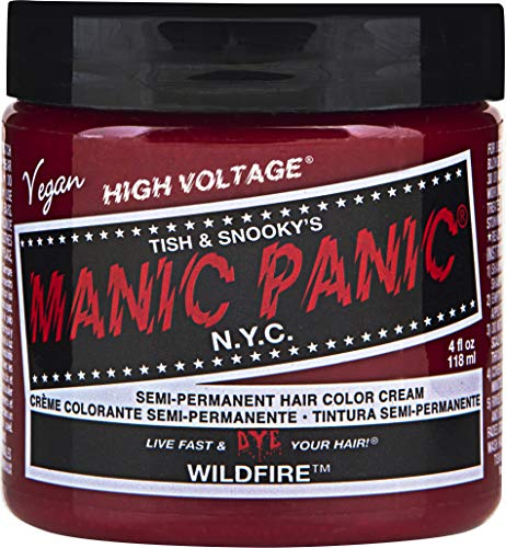 Manic Panic Semi-Permanent Hair Color Cream, Wildfire (4 fl.oz.) -