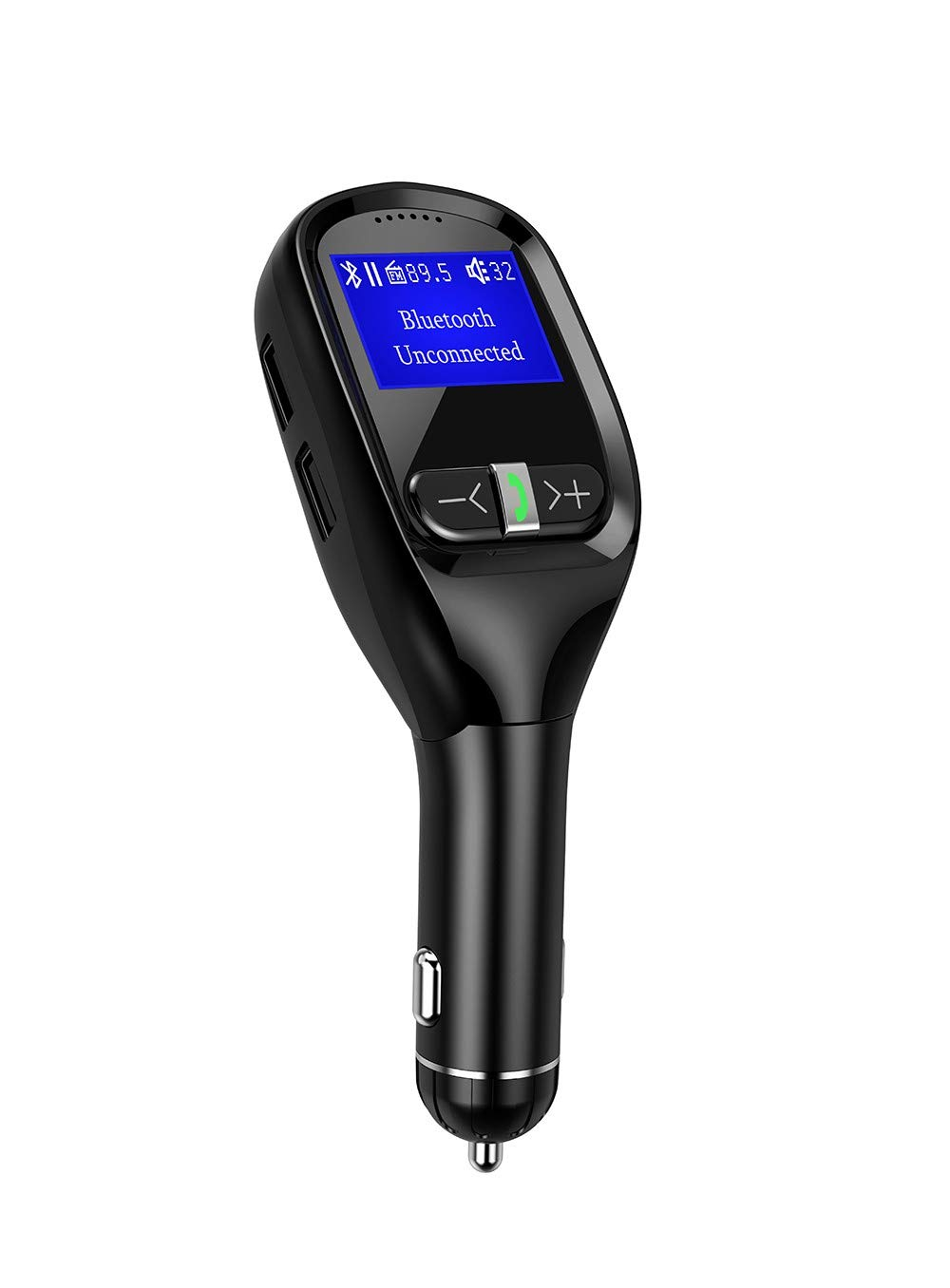 ZXZXZX Transmisor FM Bluetooth Coche Pantalla Flip Pantalla LCD Llamador Voltaje Bluetooth Coche Transmisor FM Soporte De MP3 Reproductor De MúSica EstéReo Bluetooth