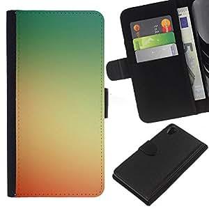 All Phone Most Case / Oferta Especial Cáscara Funda de cuero Monedero Cubierta de proteccion Caso / Wallet Case for Sony Xperia Z2 D6502 // Yellow Red Sunset Summer Sun Warm