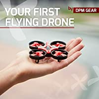 Quadcopter 6-Axis Gyro Mini Drone by DPM Gear - Your First Flying RC Drone with LED Lights & 360° Flip Over, Headless Mode, One Key Return, Easy Remote Control – Gift Box, Ideal Drone for Beginners from DPM Gear