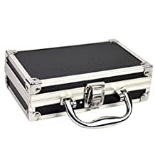 """Enerhu Portable Carrying Case Box Hard Case Aluminium Alloy Tool Box Cases S(7.09""""by4.33""""by2.17"""")"""