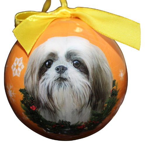 Shih Tzu Christmas Ornament Shatter Proof Ball Easy To Personalize A Perfect Gift For Shih Tzu Lovers ()