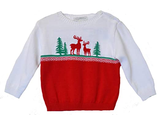 f1245db720e0 Amazon.com  Carriage Boutiques Reindeer Design Crew Neck Pullover ...