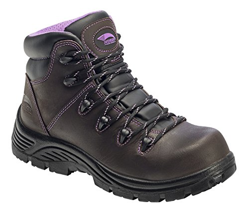 Avenger Women's 7123 Leather Waterproof Puncture Resistant Comp Toe EH Work Boot Industrial and Construction Shoe, Brown, 10 M US by Avenger