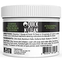 Keurig Machine Cleaner By Quick 'N Clean Coffee (4 Cleaning Cycles, a 2-years Supply!)