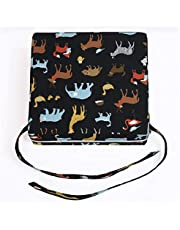 Children Increased High Chair Seat Pad Safe Booster Detachable Washable Dining Cushion (Color : Black-based Animal Print)