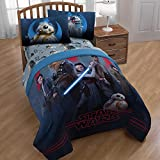 Home Essentials To Your Door Star Wars Episode VIII The Last Jedi Heroes Bedding 5 piece FULL Set with Fabric Refresher