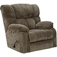 Catnapper Popson Chaise Rocker Recliner in Mocha