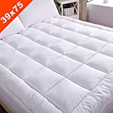 Waterproof Mattress Pad Twin WhatsBedding Waterproof Mattress Pad Twin Size Cotton Top Hypoallergenic Down Alternative Filling Pillowtop Mattress Topper Cover-Fitted Quilted (Waterproof Twin)