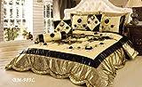Tache 6 Piece Royal Spring Blooms Patchwork Comforter Quilt Set, Queen